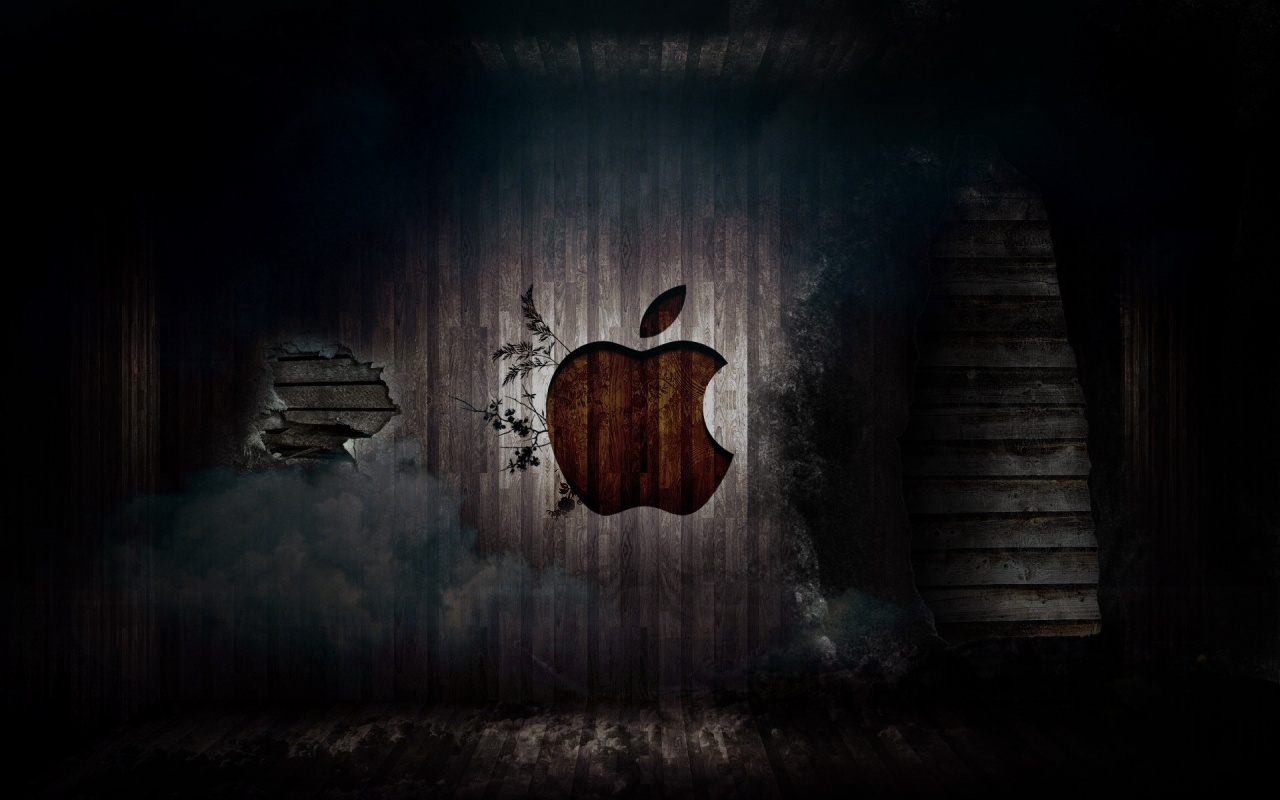 Apple In Dark Room