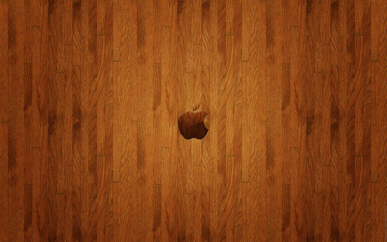 Apple Wooden Finish Backgrounds