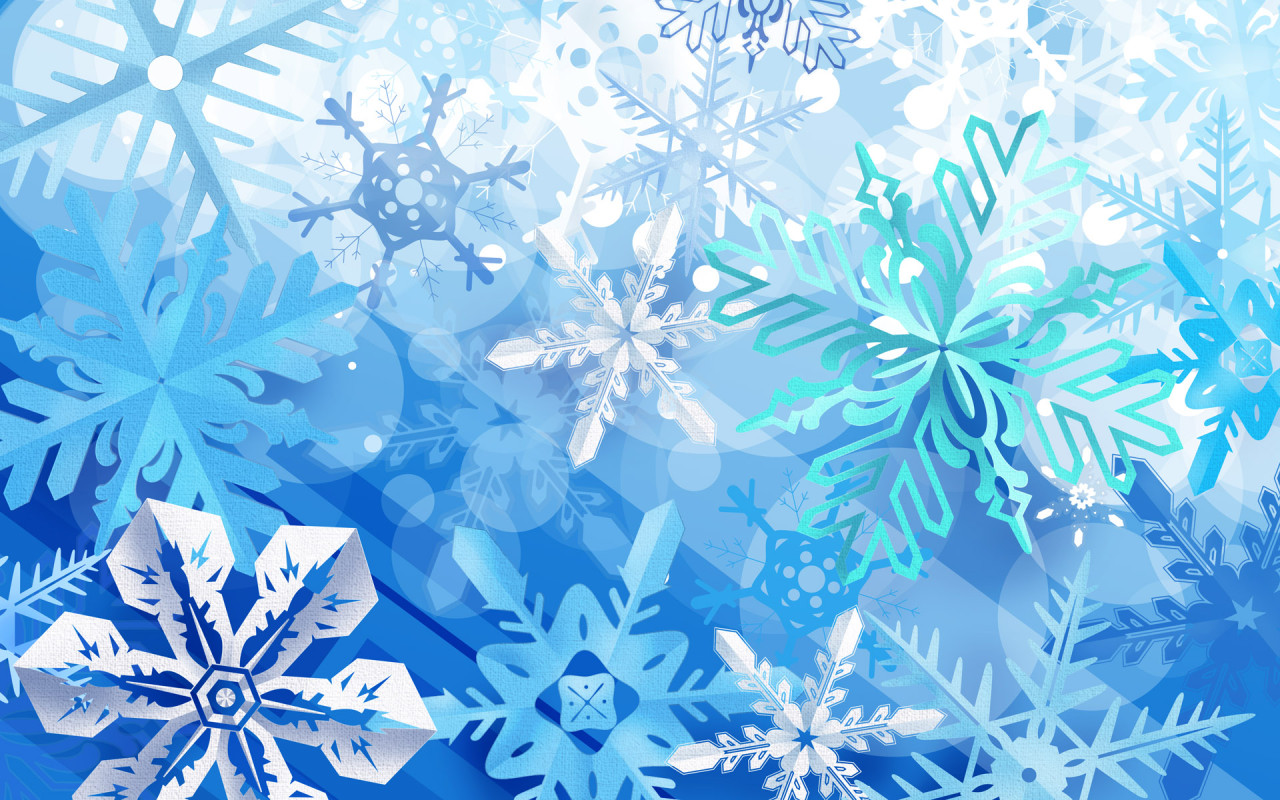 Beautiful Snowflakes Backgrounds