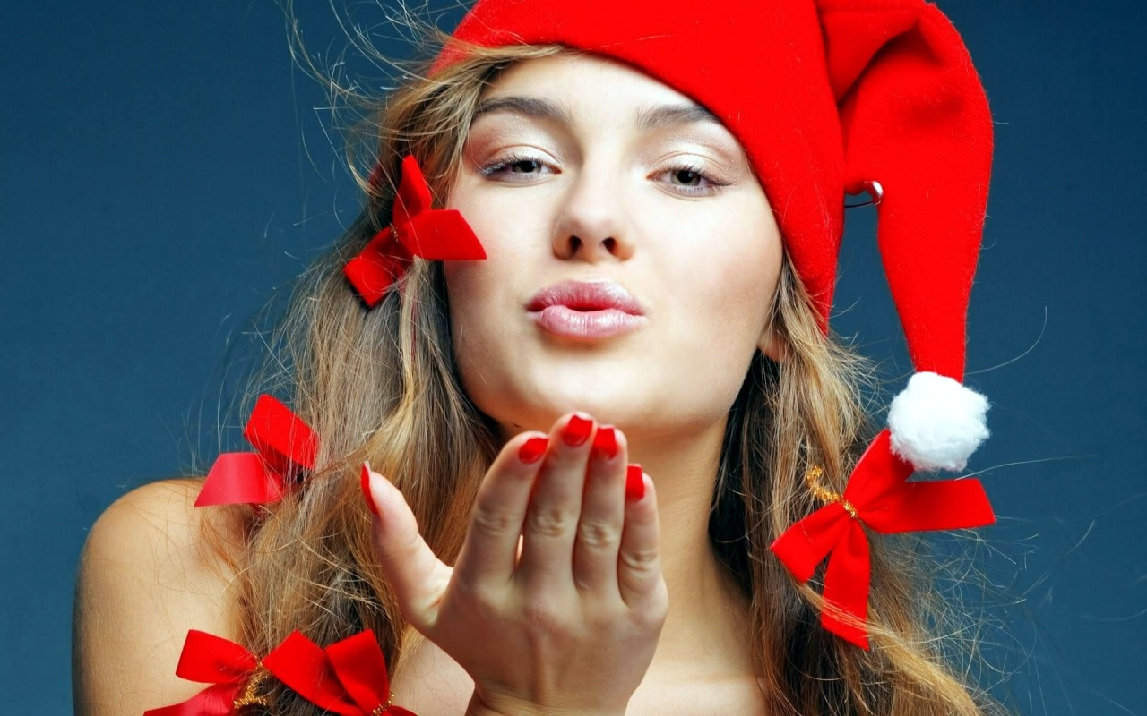 Beautiful Santa Babe Backgrounds