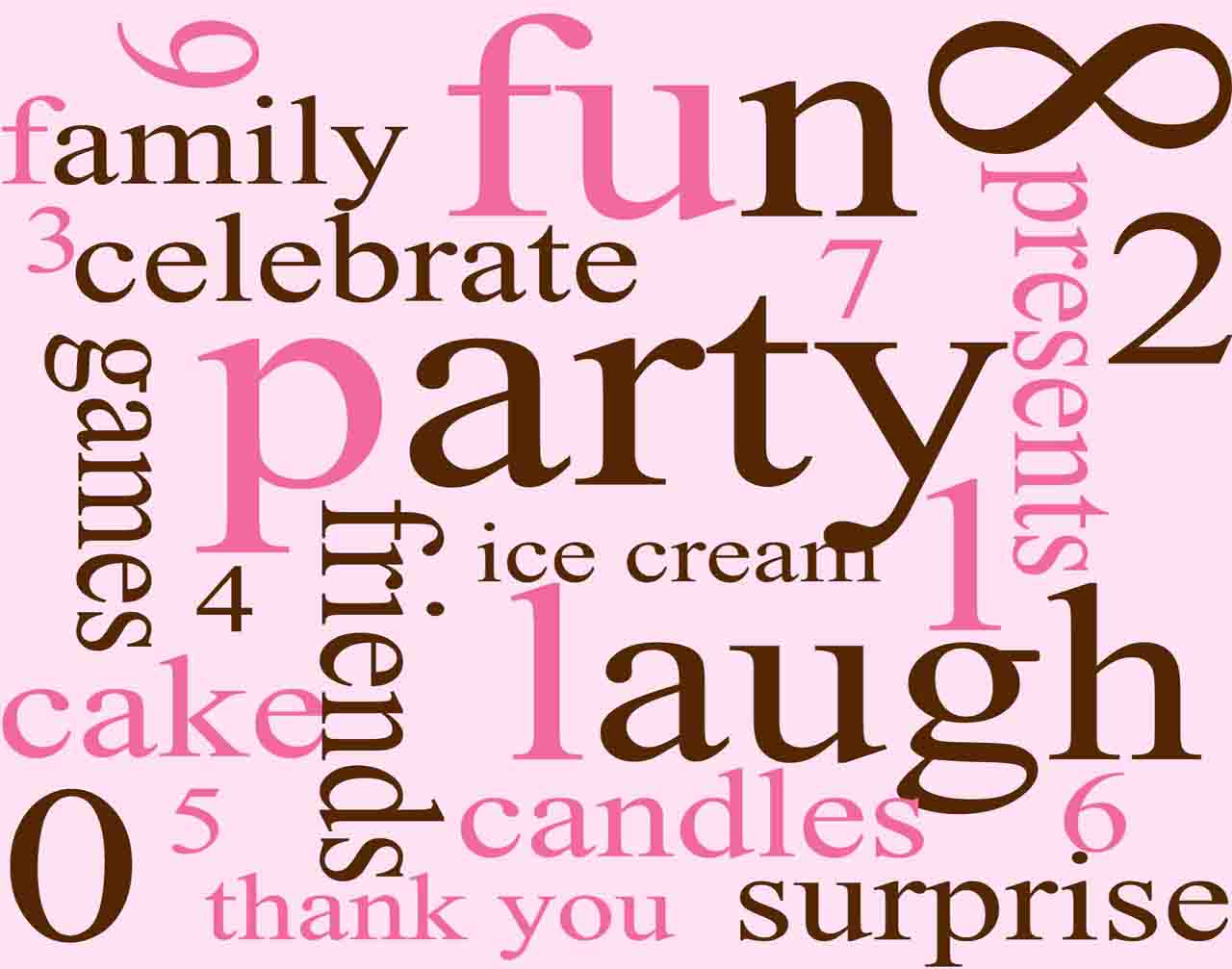 Birthday Words Backgrounds