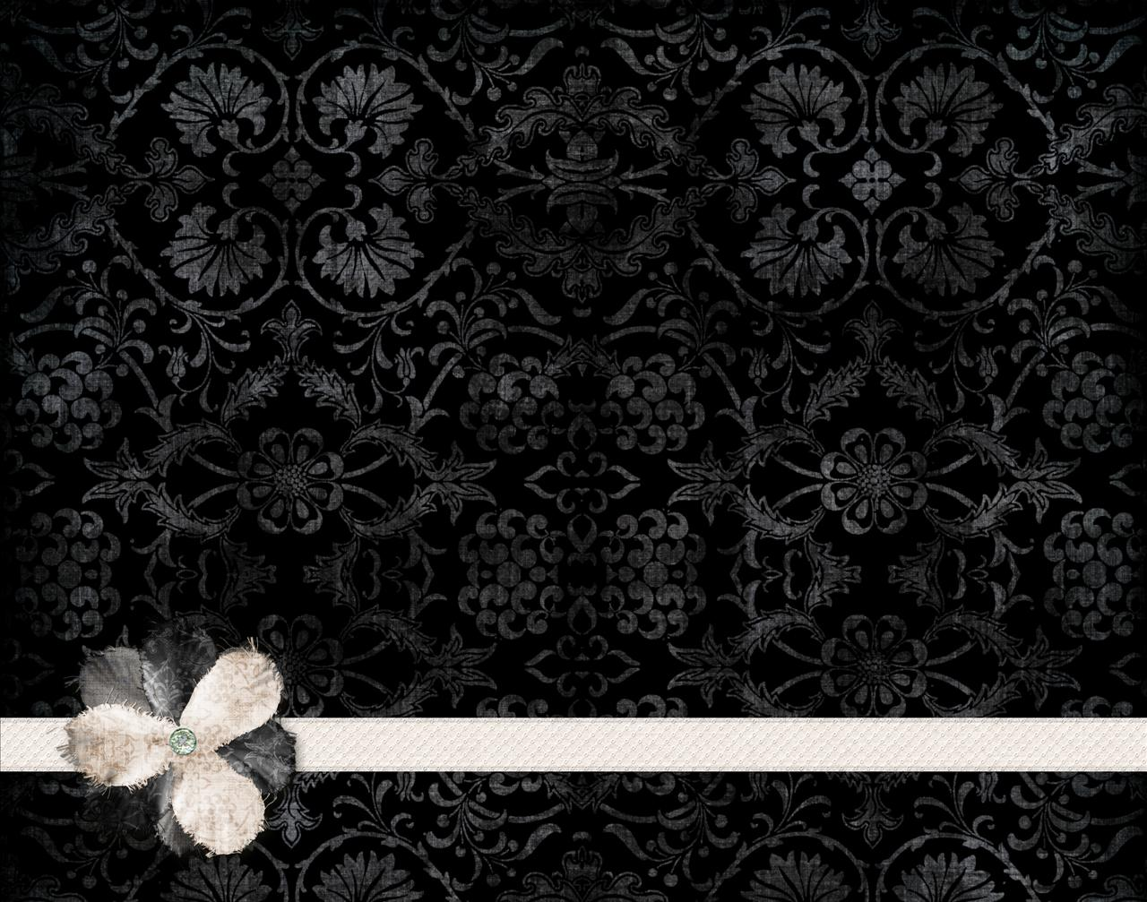 Black with Flowers Backgrounds