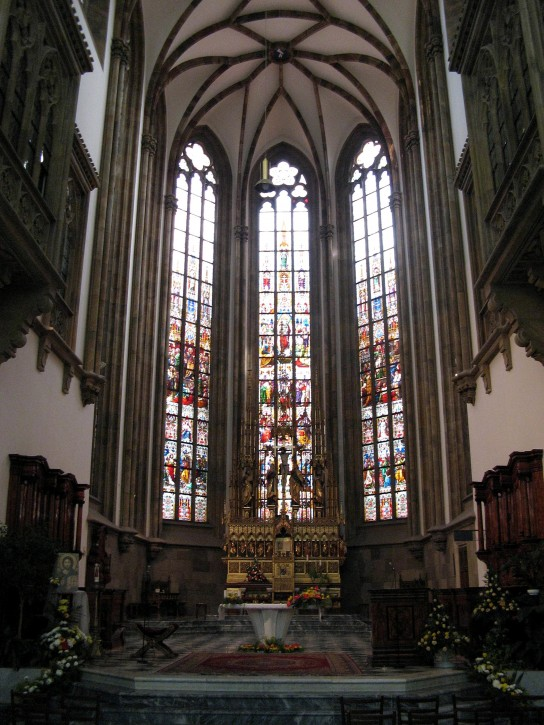 Cathedral Window Inside Backgrounds