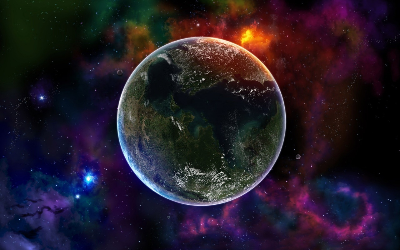 Colorful Space Earth Backgrounds