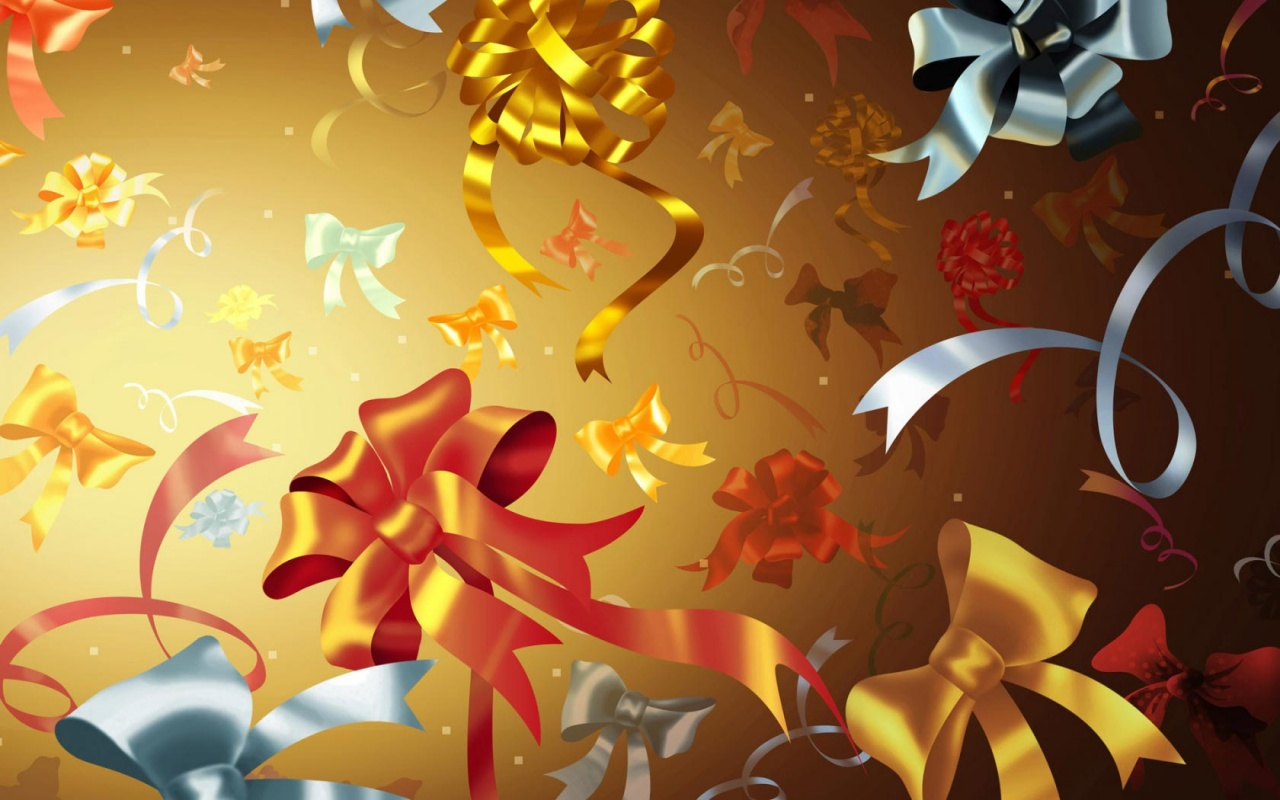 Colourful Ribbons 2012 new year Backgrounds