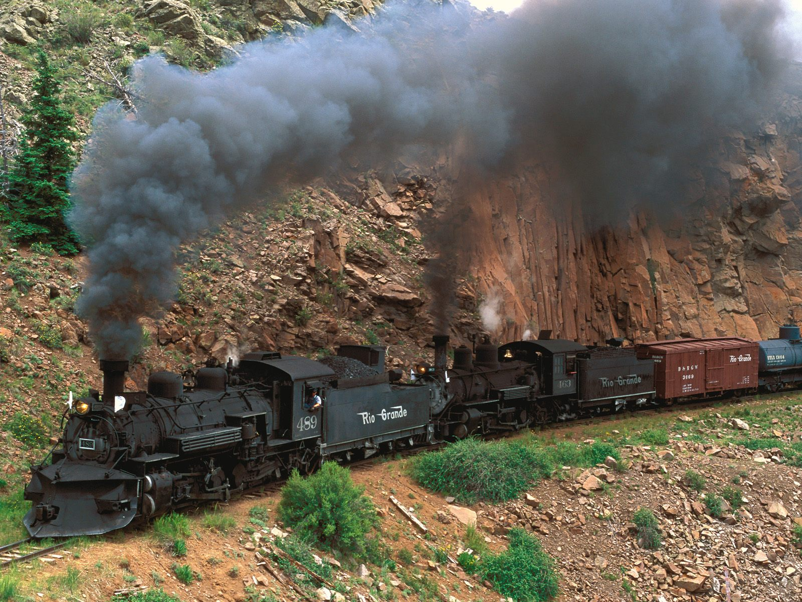 Cumbres and Toltec Steam Train Colorado Backgrounds