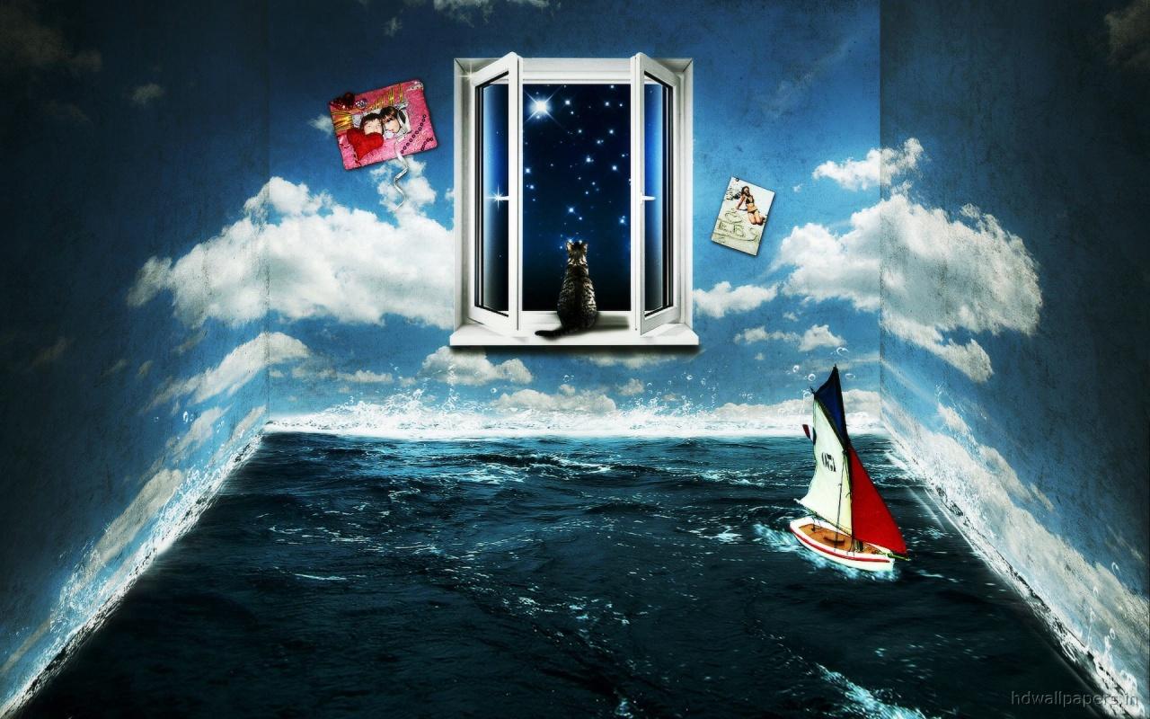 digital Living 3D Room Backgrounds