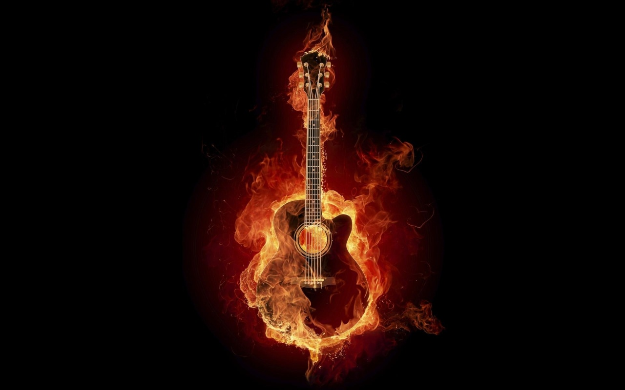 Fire Guitar Backgrounds