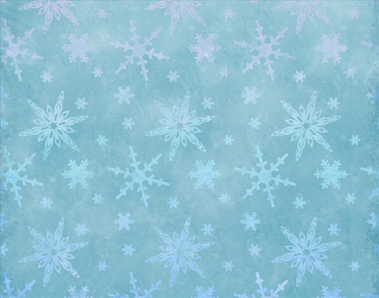 Frozen Snow with Stars Backgrounds