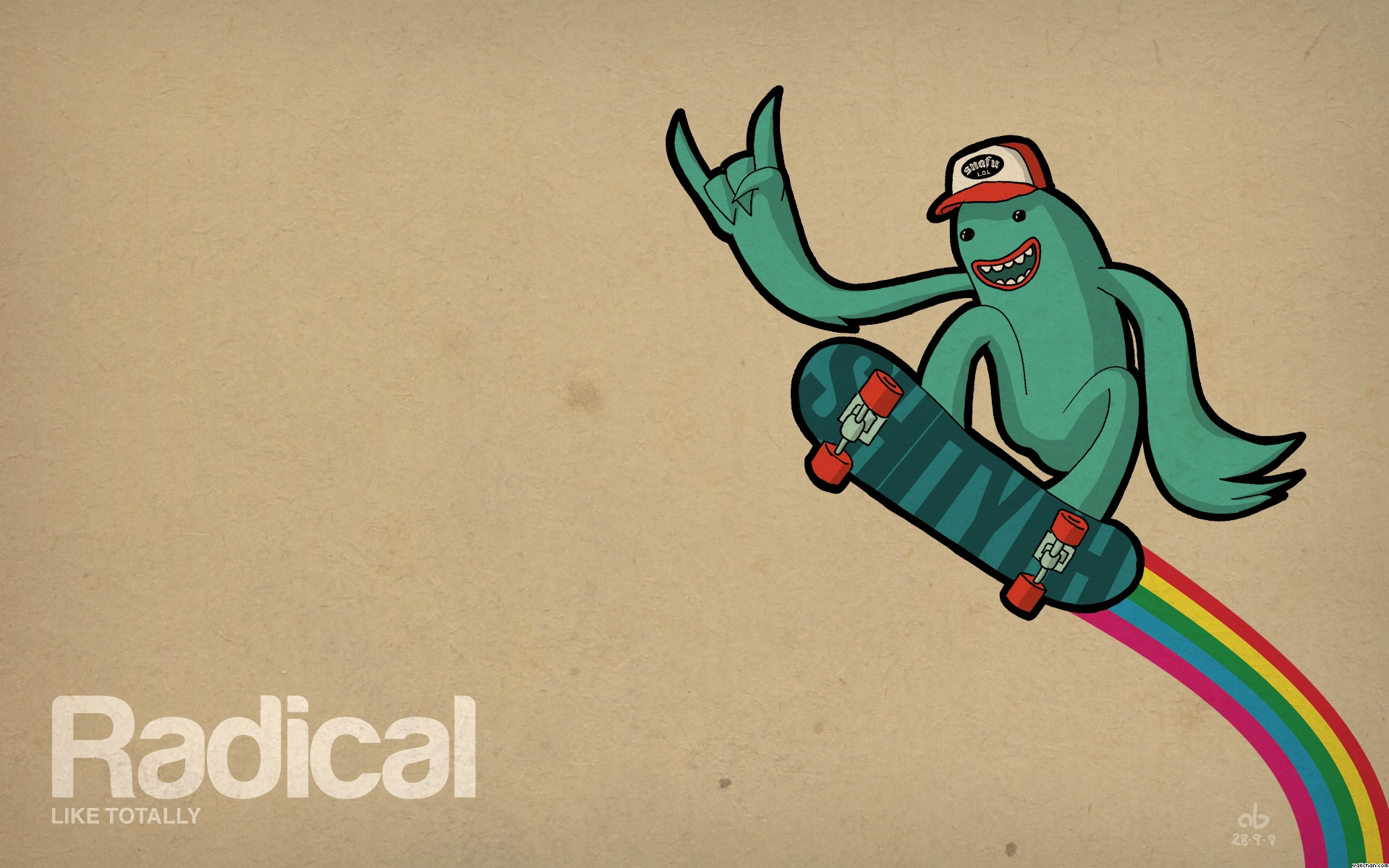 Funny Radical Skateboard Backgrounds