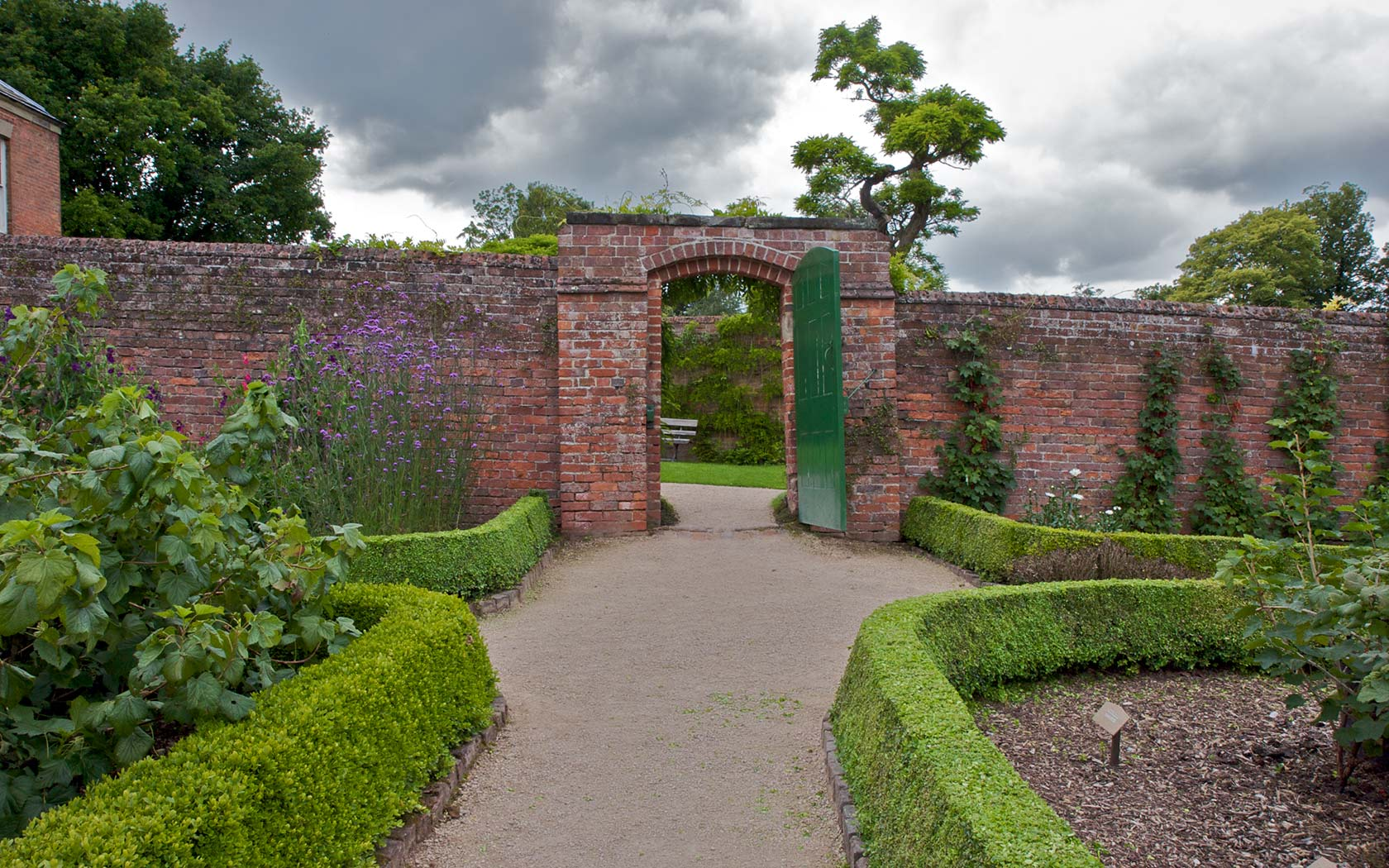 Garden Kitchen Entrance Calke Natures Images Abbey Backgrounds