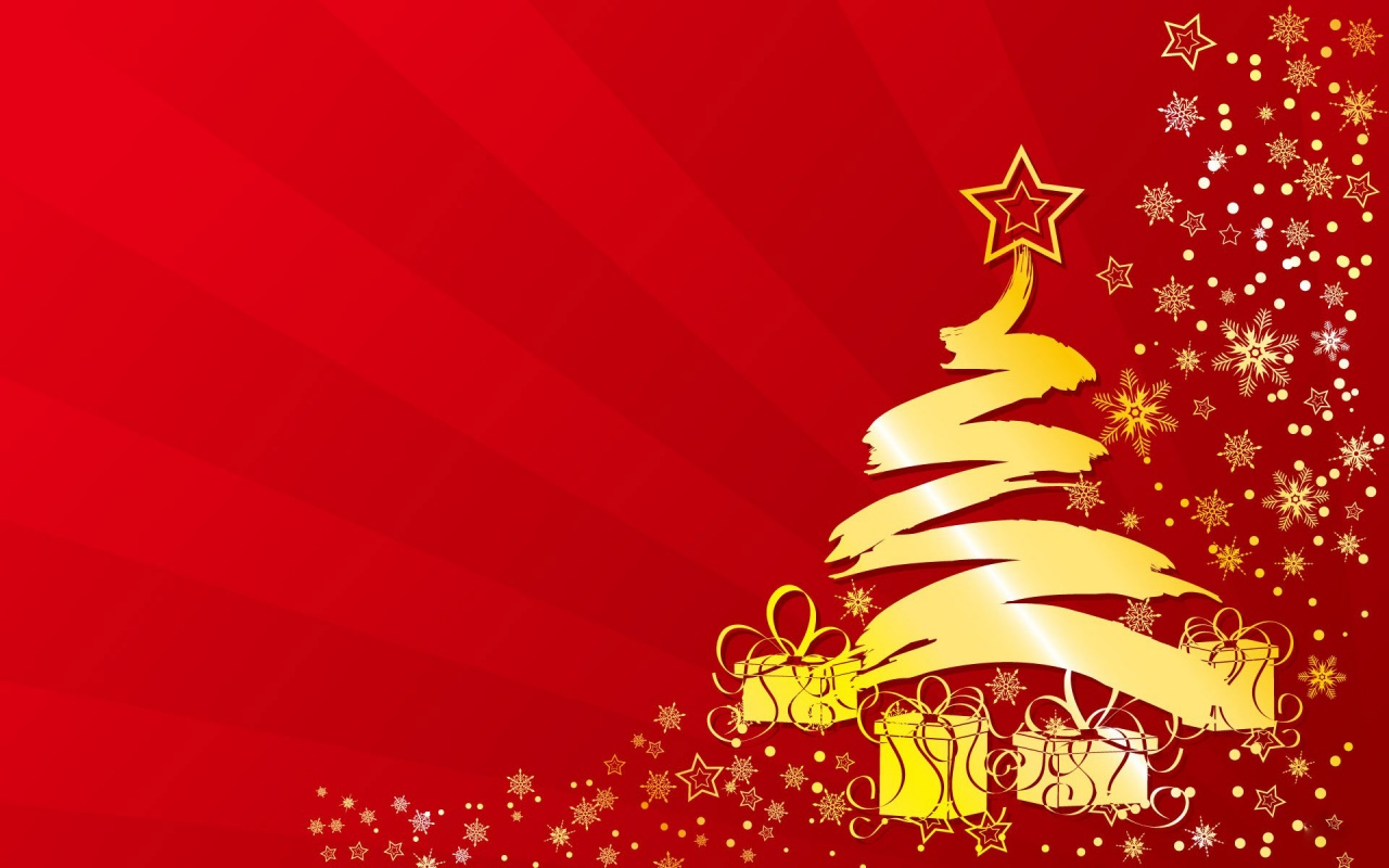Golden Christmas Tree Backgrounds