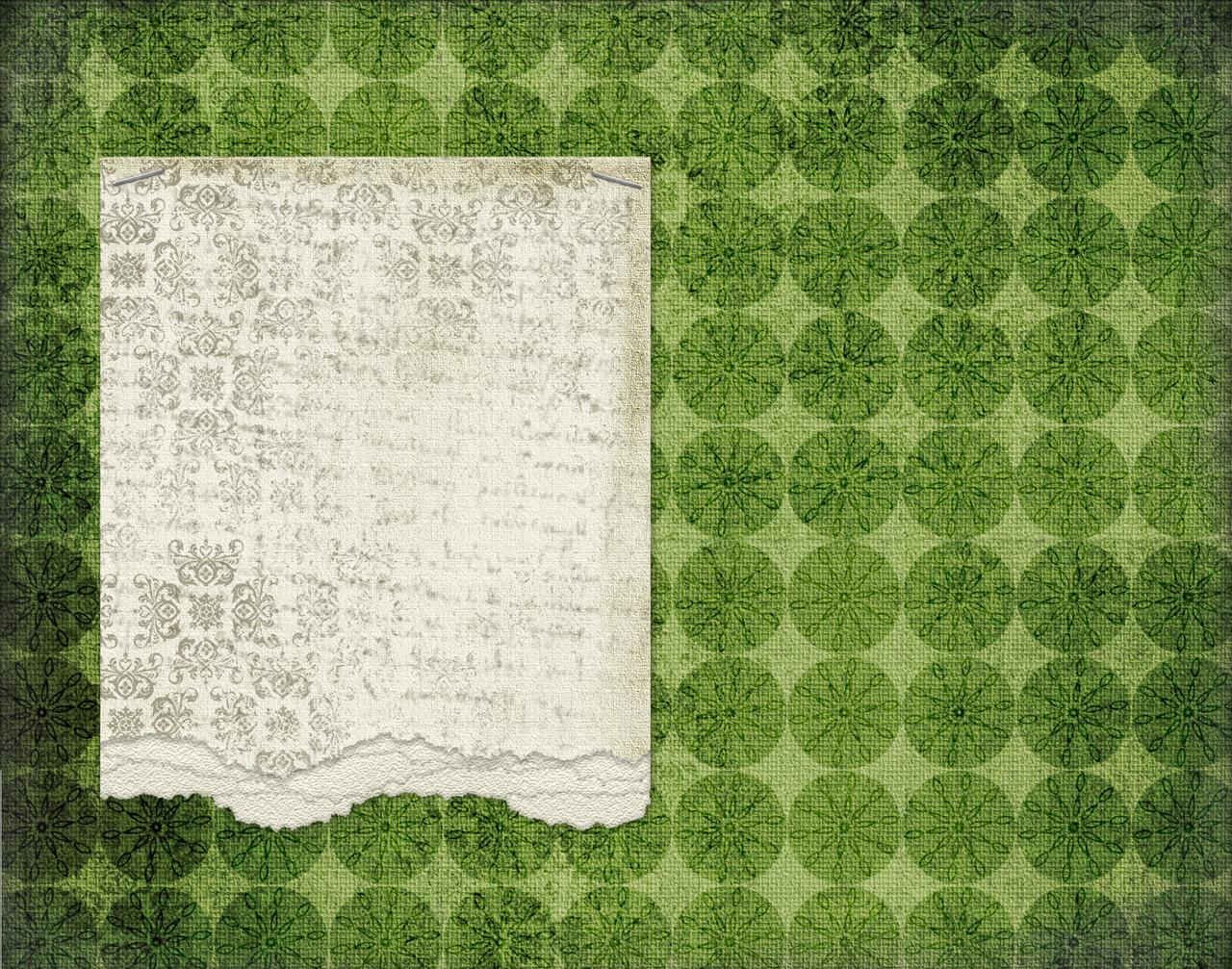 Green Journal Paper Backgrounds