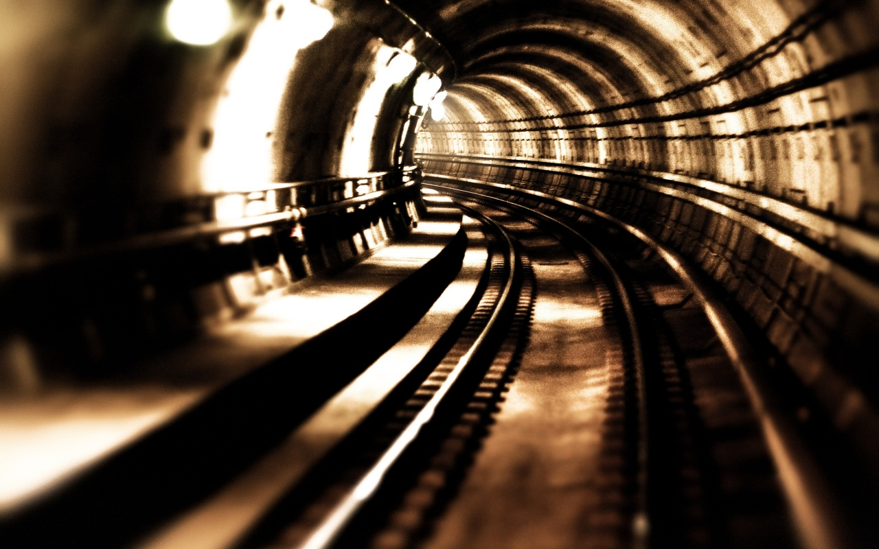 High Speed Metro Train Tunnel Backgrounds