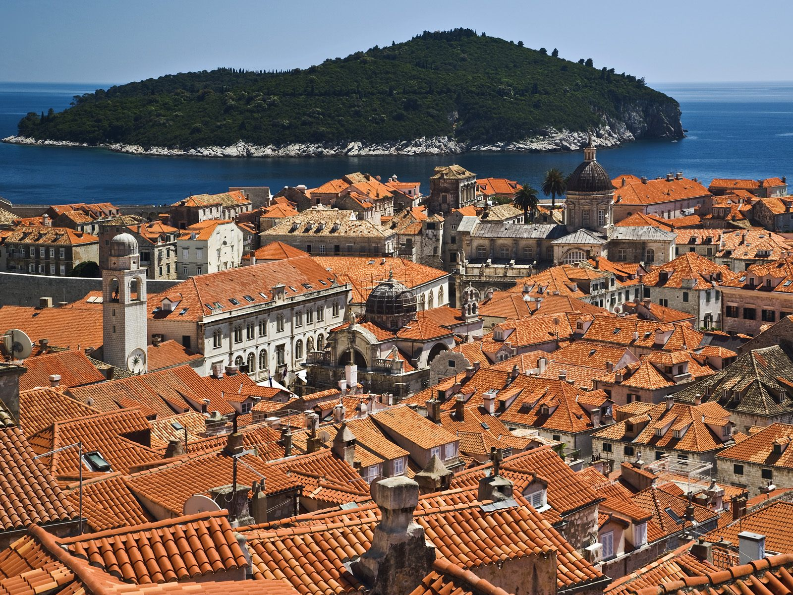 Historic Dubrovnik Croatia and the Adriatic Sea Backgrounds