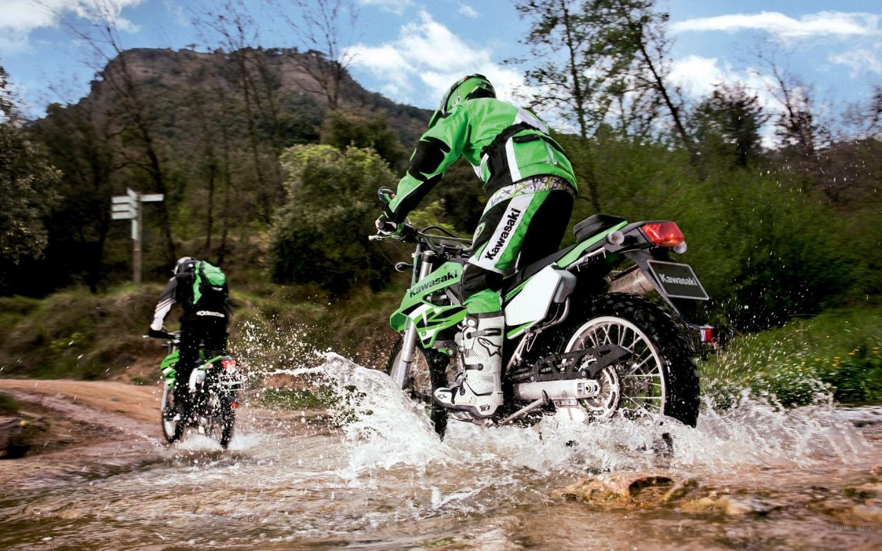 Kawasaki Bike Racing Backgrounds