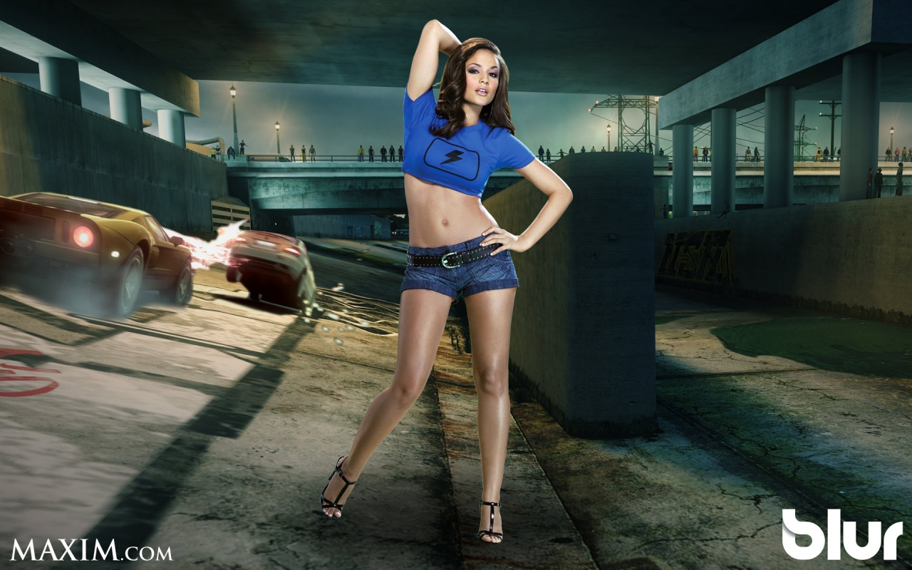 Maxim Girl For Blur Game Backgrounds