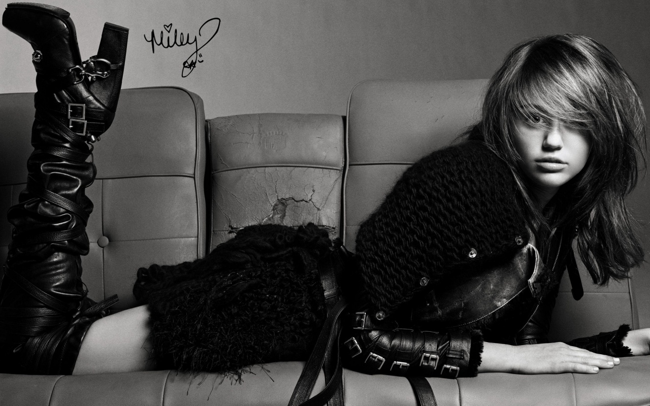 Miley Cyrus Black Dress Backgrounds