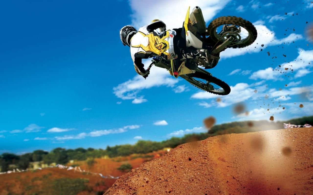 Motorcross Bike Jump Backgrounds