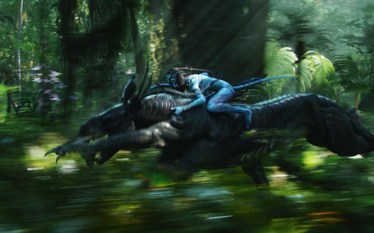 Navi Warrior On Thanator In Avatar Movie Backgrounds