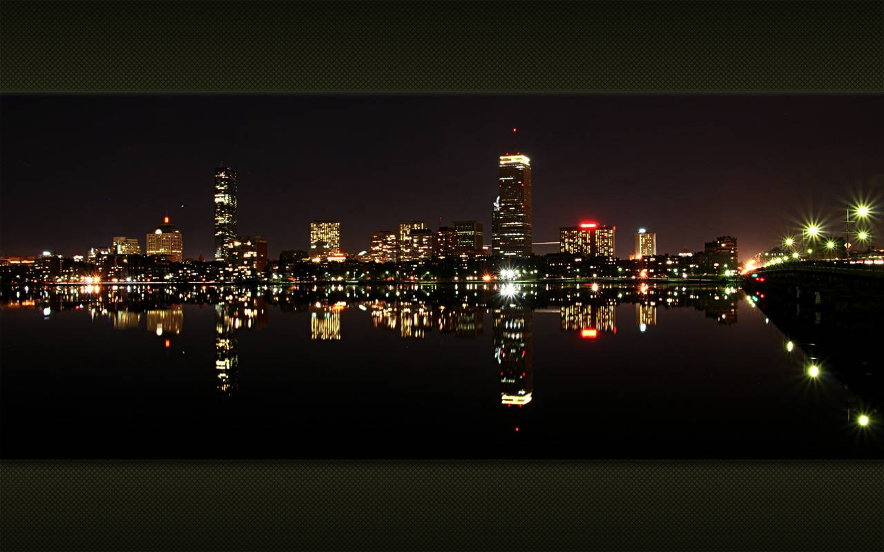 Night Cities Boston Landscapes Images Backgrounds