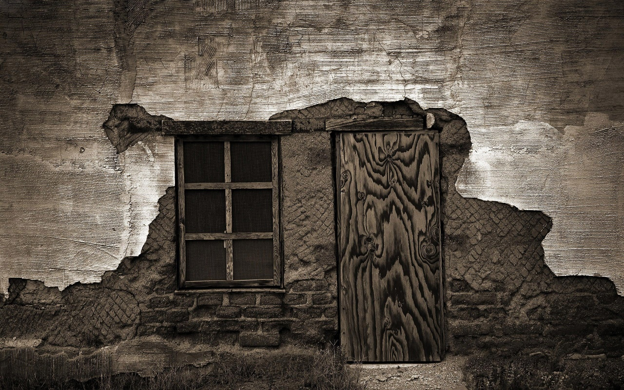Old House Broken Door Backgrounds