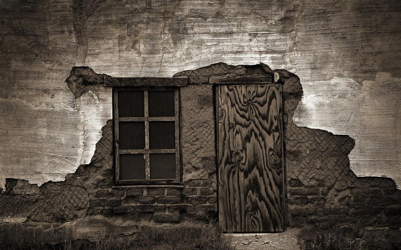 Old House Broken Door Backgrounds