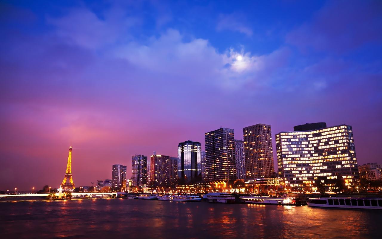 Paris City Lights Backgrounds