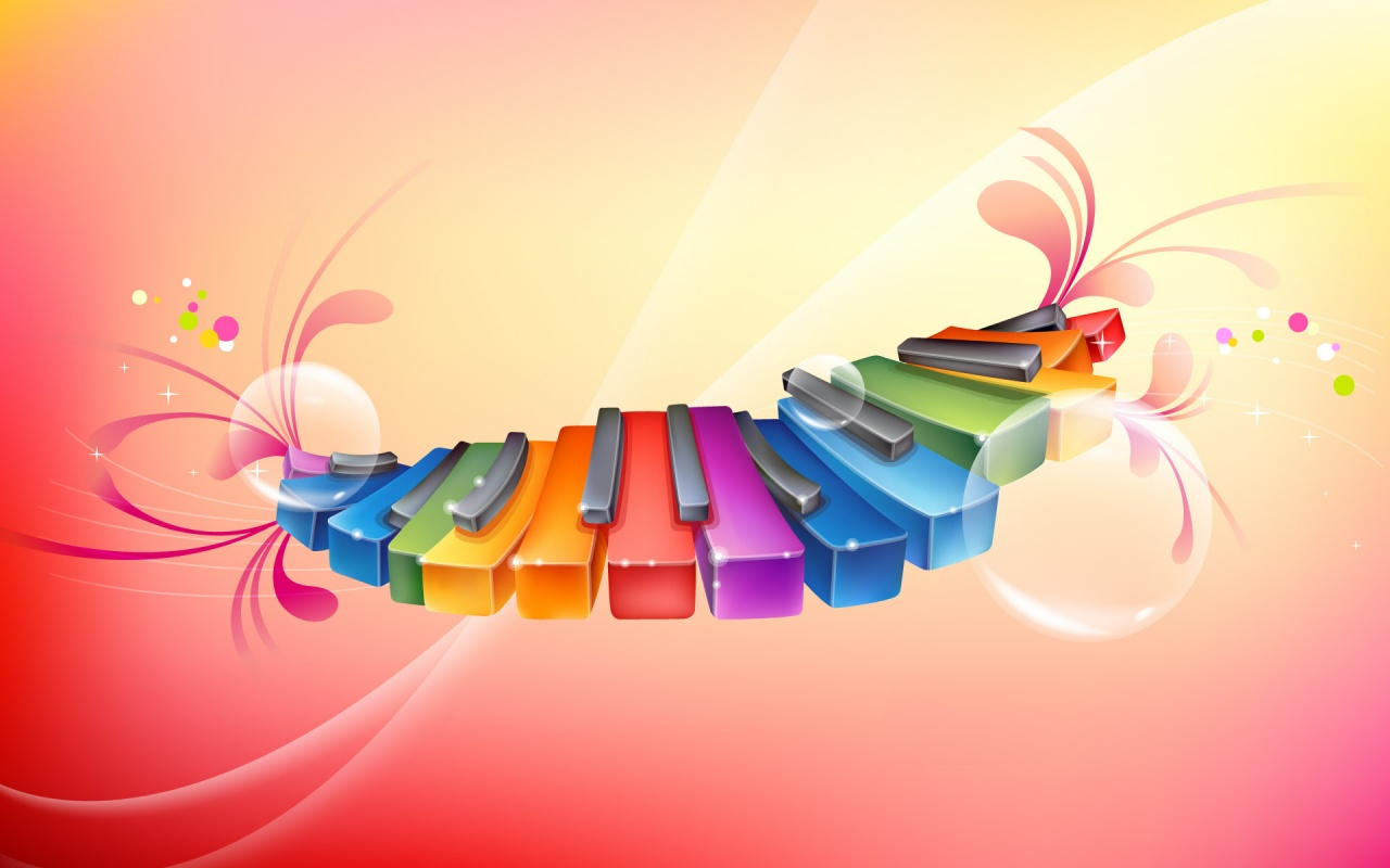 Rainbow Colour Rhythmic Piano