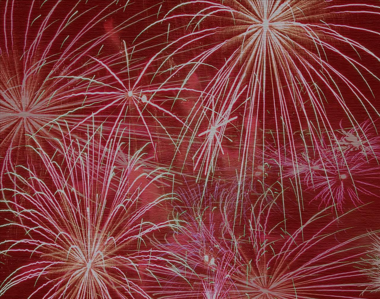 Red Fireworks Backgrounds