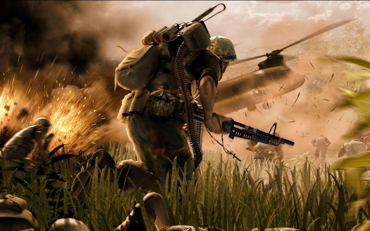Running War Soldier Backgrounds