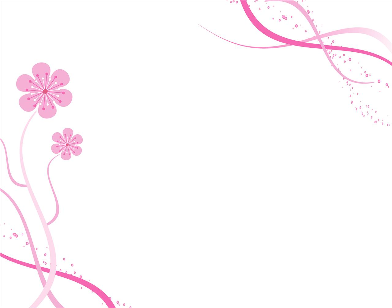 Spring Blossoms with Pink Backgrounds
