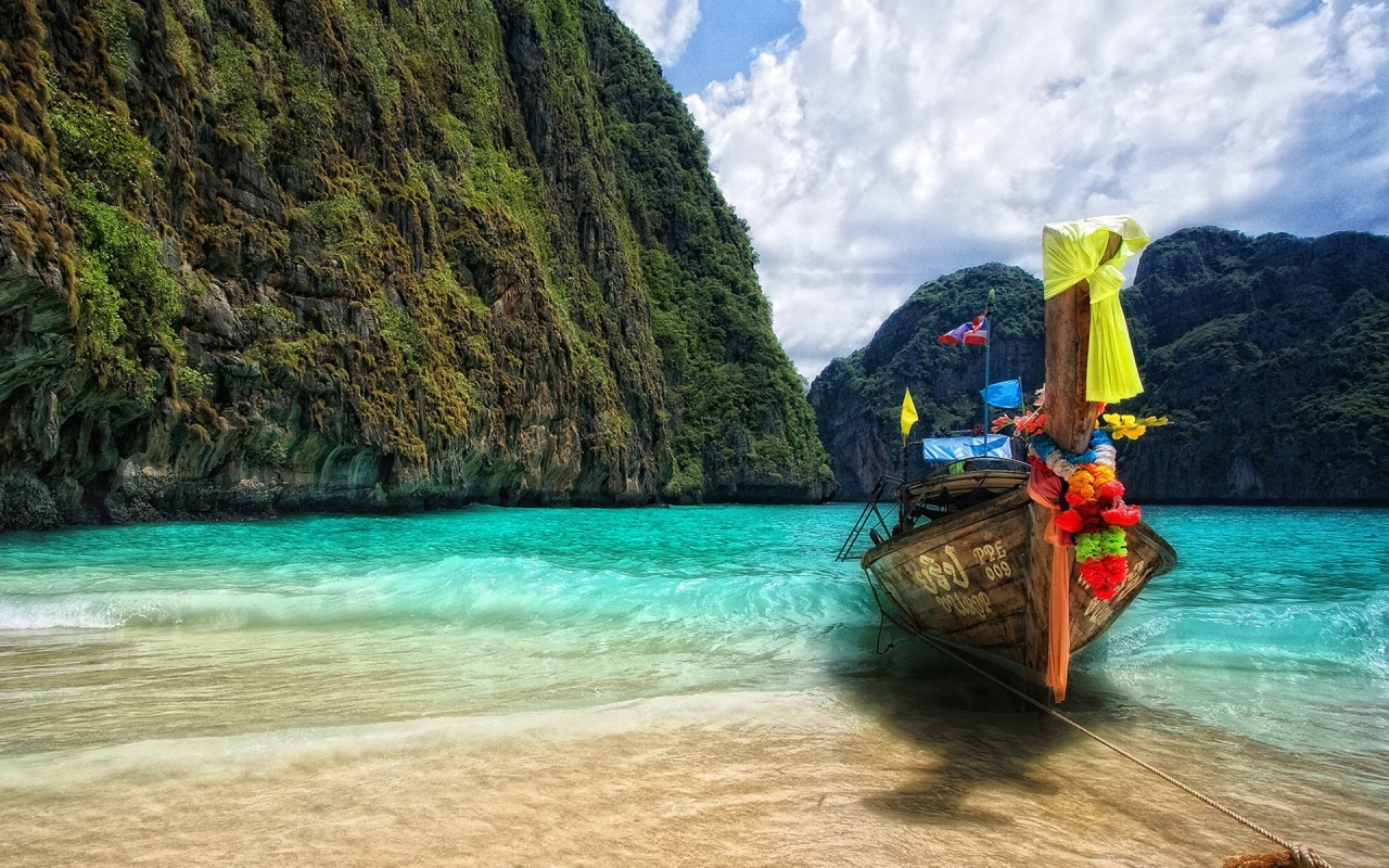 Thailand Beach Boat Backgrounds