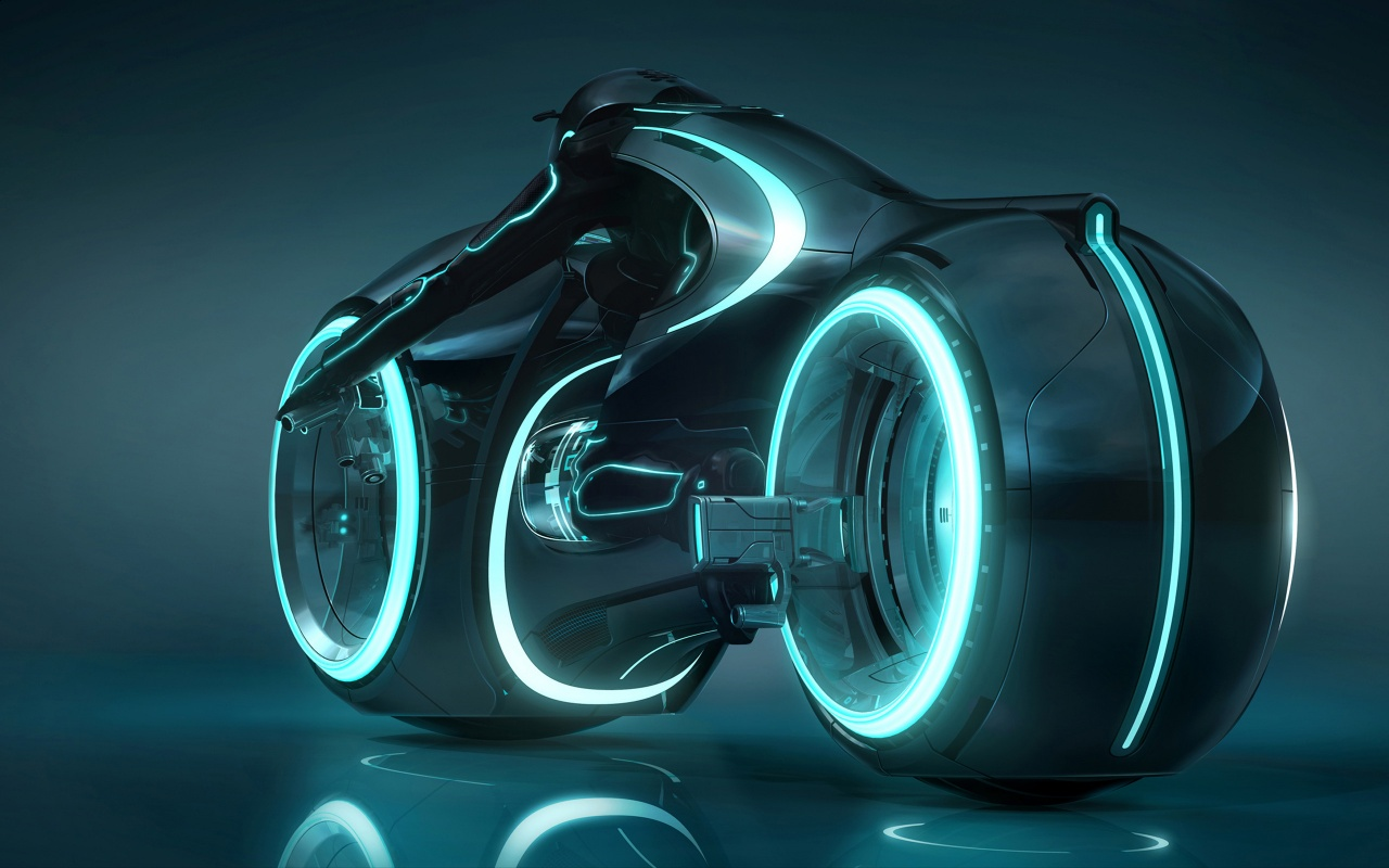 Tron Legacy Blue Light Cycle Backgrounds