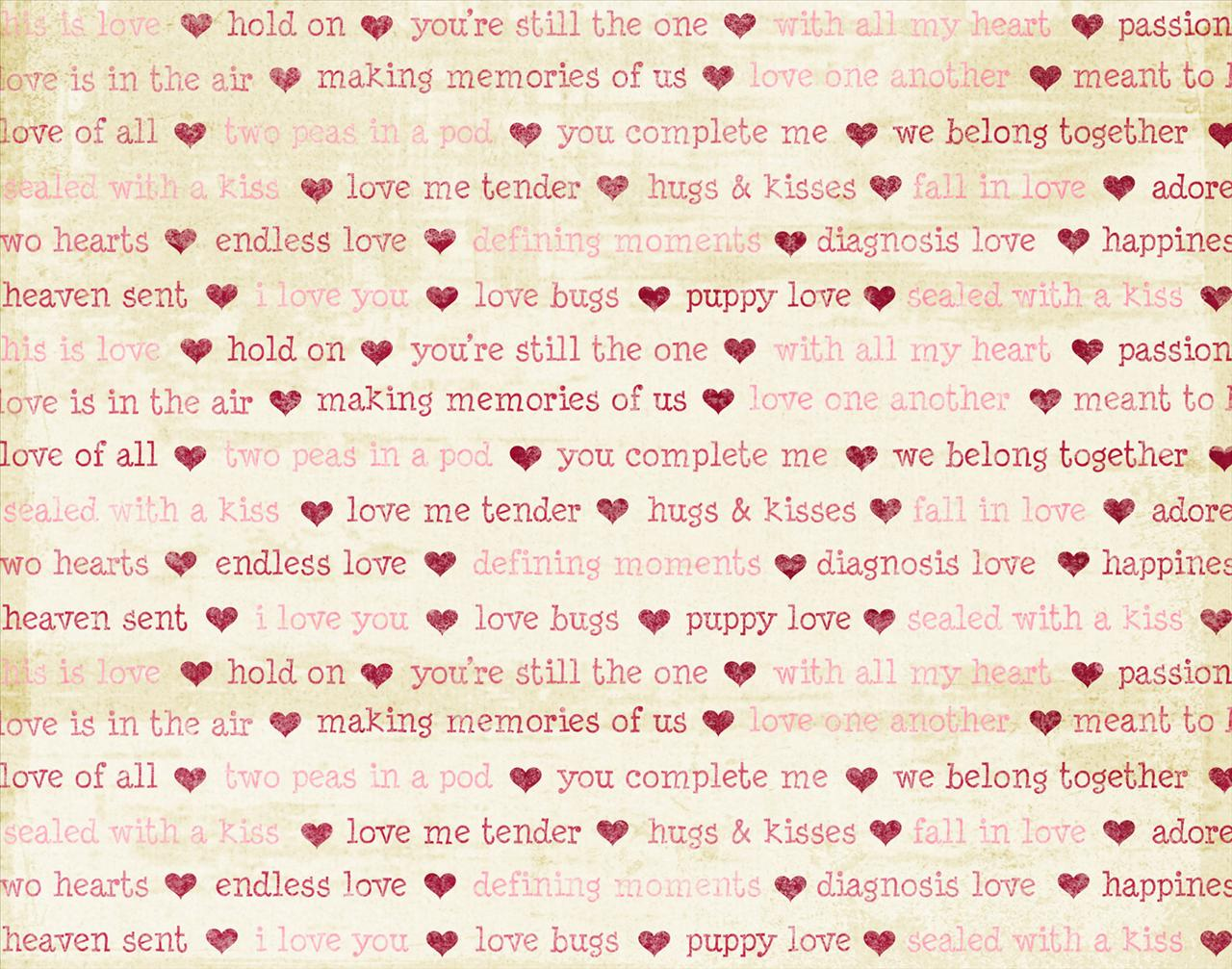 Words of Love with hearts Backgrounds