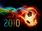 2010 Colourful Fire Football Backgrounds