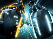 2010 Tron Legacy Bike Racing Backgrounds