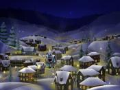 2012 Christmas Winter Night Backgrounds