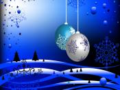 2012 year Pair Christmas Globes Backgrounds