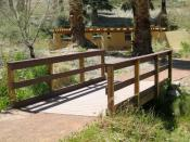 A Foot Bridge and Trail  Backgrounds