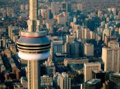 Aerial View of the CN Tower Toronto Canada Backgrounds