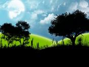Artificial Black Green Nature Backgrounds