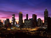 Atlanta Skyline at Sunset Georgia Backgrounds
