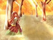 Autumn Leaves Paint Anime Backgrounds