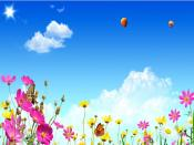 Balloon Ride in Spring Backgrounds