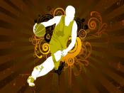 Basketball Play Vector Backgrounds