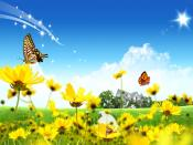 Beautiful Flowers Landscape Backgrounds