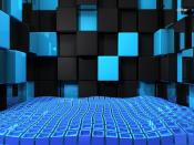 Black & Blue Cube Chamber Backgrounds