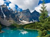 Blue Lake Mountains Backgrounds