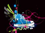 Blue Shoe Vector Design Backgrounds